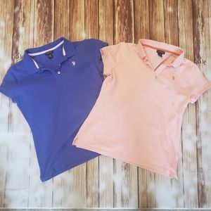 US Polo Assn. Preppy Shirt pink 80s 90s Classic